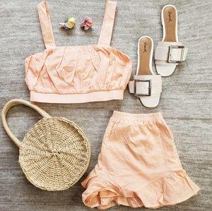 🆕️//The Lolita 2 piece set// pink set